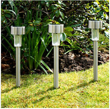 Outdoor Stainless steel Solar Lawn lamp LED Path Way Wall Landscape Mount Garden