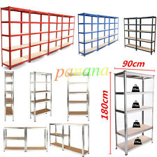 Metal Shelving Industrial Boltless Racking Garage Heavy Duty Shelf Bay 5 Tier UK