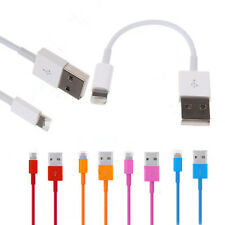 9 Colors 20cm 8 Pin USB Cable Data Sync Charger FOR iPhone 5 5S 6 iPod Nano US
