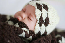 Crochet/Knitted Baby Shawl/ Blanket / Afghan and Hat, Baby Shower Gift. Baby Set