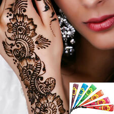 Natural Temporary Tattoo Paste Herbal Henna Body Art Paint Ink Paste 6 Colors