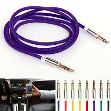 3.5mm Male to Male Aux Auxiliary Cord Stereo Audio Cables For Car Phone iPod MP3