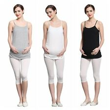 Pregnant Womens Strappy Vest Blouse Tops Shirt Maternity Tank Top Camisole Cami