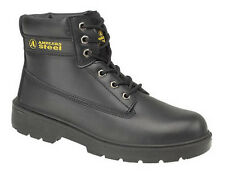 Safety Boots FS112 Safety Boots Black With Steel Toe Caps +amp; Midsole Sizes 3-