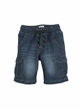 Pumpkin Patch Baby Boys Declan Denim Pull On Cargo Short (sizes 0-5)