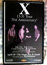 """2008 """"X"""" the band 31st Anniv Poster from the MUSIC Box Fonda Los Angeles FRAMED"""