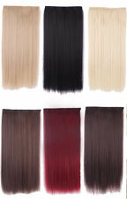 1Pc Heat Resistant 5 Clip in Hair Extensions Women Long Straight Natural Casual
