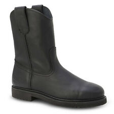 "New Mens Black 10"" Wellington Leather WP Work Boots BONANZA 103 Size 6-12 (D, M)"