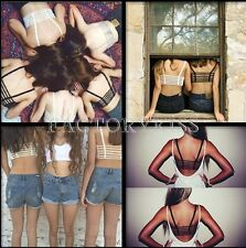 Sexy Women Bralette Cage Caged Back Cut Out Padded Bra Bralet Crop Top #JC