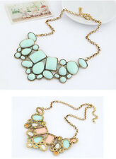 Charm Women Pendant Collar Chain Bib Statement Geometry Collar Necklace Jewelry