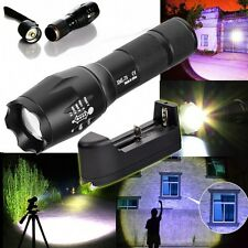 G700 X800 5000LM T6 LED Zoom Flashlight Tactical Torch Zoom Lamp + Case New