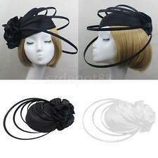 Elegant Women Vintage Party Flower Hat Church Dress Bridal Hat Hair Accessories
