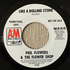 "Phil Flowers & Flower Shop  Like a Rolling Stone 45"" PROMO Northern Soul HEAR"