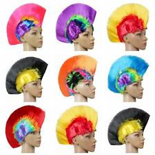 Rainbow Mohawk Hair Wig Xmas Wigs Costume Punk Rock Wigs Halloween Cosplay Party