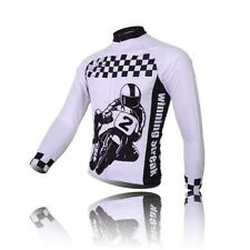 Racing Mens Cycling Jerseys Bicycle Long Sleeve Sports Cycling Jersey Tops S-3XL