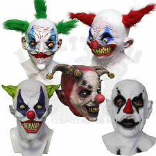 Halloween Popular Latex Fear Of Clowns Jester Psycho Scary Fancy Dress Up Masks