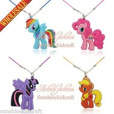 4pcs My little pony Necklaces pendants Cartoon Chains Kids Gift Rope Chain