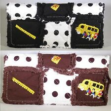 Tri-Fold-Snap Wallet PATCHWORK COTTON QUILTED Teacher/Bus Driver Gift **NEW**