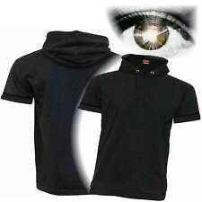 Urban Hooded T-Shirt - Short-Sleeve Biker Motorcycle Gothic Wear 100% Cotton New