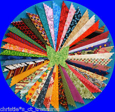 "100 2"" 2.5"" 3"" 4"" 5"" SAMPLER COTTON QUILTING FABRIC SQUARES QUILT BLOCKS"