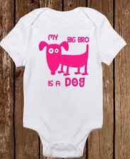 Adorable Baby Girl Onesie - My Big Brother is a Dog - Puppy - Cute ALL COLORS