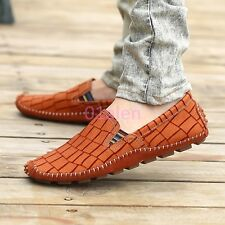 Spring Mens Loafers Slip On Leather Moccasins Gommino Casual Boat Driving Shoes