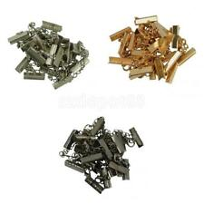 12 Sets Crimp Clasp Clip Ends with Lobster Clasp Extender Chain Jewelry Making