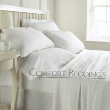 Export Quality 1500>TC Hotel White Duvet Fitted &`Sheet Set 100% Egyptian Cotton