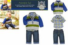 NWT Gymboree Adorable Owl Sweater, Shirt, Jeans  3pc Outfit  Size: 18-24 mos