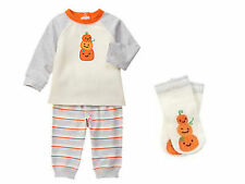 Gymboree NWT Happy Harvest 3pc Pumpkin Outfit for Fall Halloween & Thanksgiving