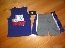 Nike Baby Boy's 2 Piece Shorts Shirt Set Outfit Toddler Boys 12M 24M NWT