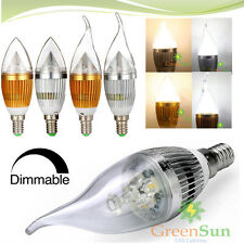 Dimmable E14 3W 5W LED Flame Chandelier Candle Light Lamp Xmas Bulb 85-265V