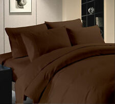 1200 TC Hotel Brown Solid Sets 100 % Egyptian Cotton All Size By Royal Bedding's