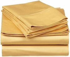 1200 TC Hotel Gold Solid Sets 100 % Egyptian Cotton All Size By Royal Bedding's