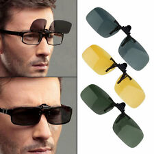 Driving Night Vision Clip-on Flip-up Lens Sunglasses Glasses Cool Eyewear AA