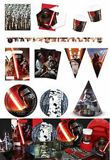 Star Wars The Force Awakens Birthday Party Supplies Plates Cups Banners Balloons