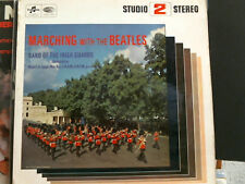 MARCHING WITH THE BEATLES Band of the Irish Guard  LP  Stereo     Lovely copy !!