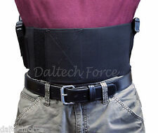 "Belly Band 2 Gun Holster 6"" Wide CCW in Black or White- Size 4X - 5X"