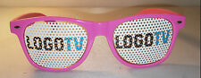 LOGO TV NETWORK - Gay Pride Marketing Sunglasses Black or Pink NEW