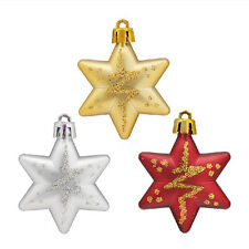 Christmas Tree Stars Decorations Baubles Xmas Party Wedding Ornament Gift hot