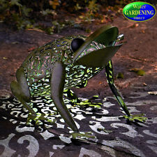 Metal Silhouette Frog  Solar Light - Smart Garden Products