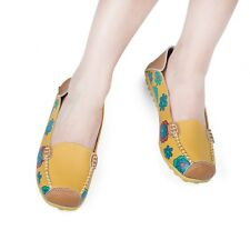 New Women Ballet Flats Lady Casual Floral Print Patchwork Slip On Flat Shoes IAU