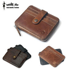 Men's Leather Slim Bifold Wallet ID Credit Card Holder Coin Purse Bag Pouch