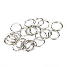 100Pcs Nickel Plated Key Rings Key Chain Round Split Keychain Connector Findings