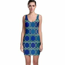Cute Geometric Circle Tight Fitted Bodycon Dresses - Size & Sleeve Options