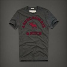 Abercrombie and Fitch Red Word Design Gray Men T-Shirt M/L/XL