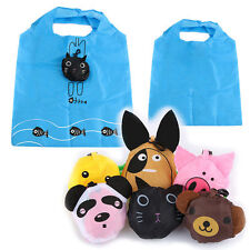 New Useful Foldable Handbags Grocery Tote Storage Reusable Animal Shopping Bag
