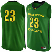 mens S nike oregon ducks basketball #23 authentic jersey/apple green sewn $120