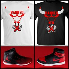 EXCLUSIVE TEE SHIRT TO MATCH THE NIKE AIR JORDAN BANNED BREDS!