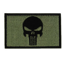 Halloween Skull Double Sided Embroidery Trim Patch US Army Morale Armbands Badge